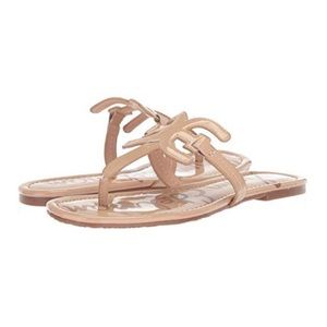 NEW Sam Edelman Nude Carter Patent Leather Thong